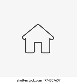 Home vector icon on light grey background