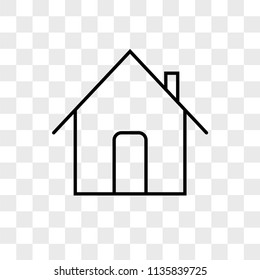 Home vector icon on transparent background, Home icon