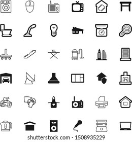 home vector icon set such as: space, extractor, stereo, buy, wooden, loudspeaker, loud, mark, weighing, stamp, air, broadcast, laptop, scale, cuisine, filter, burn, firewood, roof, car, cartoon