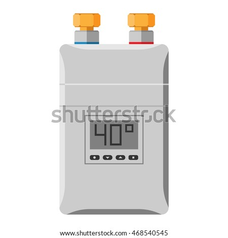 Home Water Heating Boiler Isolated On Stock Vector (Royalty Free ...
