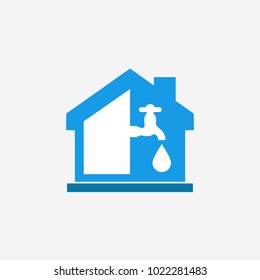 home water supply business vector logo