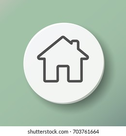 Home web icon, home pictogram, symbol, home icon button, ui, house icon flat. Home outline icon. Vector illustration. EPS 10