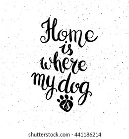Large DOG Stickers Dog Handwriting Quotes