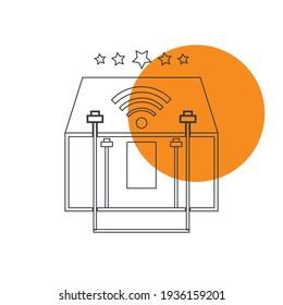 Home wifi icon, wifi zone, free wifi zone icon.