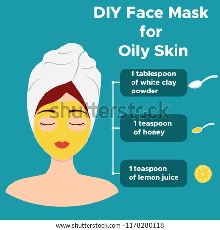 Homemade Face Mask Natural Ingredients Oily Stock Vector Royalty