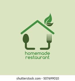 homemade restaurant logo logotype theme template vector illustration