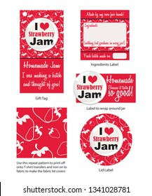 Homemade Strawberry Jam design elements
