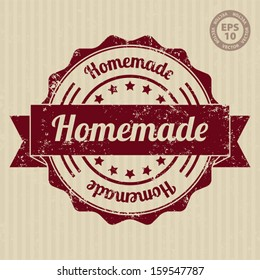 Homemade Vintage Stamp with grunge - Vector
