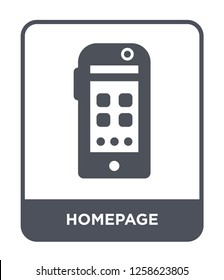 homepage icon vector on white background, homepage trendy filled icons from Mobile app collection, homepage simple element illustration, homepage simple element illustration