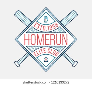 Homerun elite club is a vector illustration about sport