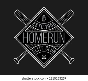 Homerun elite club white on black is a vector illustration about sport