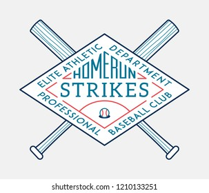 Homerun strikes is a vector illustration about sport