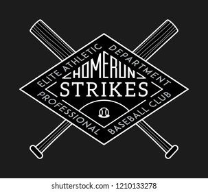 Homerun strikes white on black is a vector illustration about sport