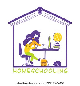 Homeschooling or home education is the education of children at home. Home education is usually conducted by a parent or tutor or online teacher.