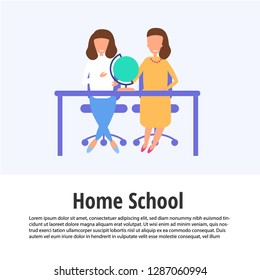 homeschooling web vector illustration