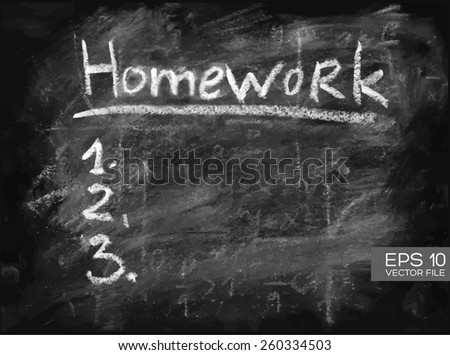 Homework Task Do List 1 2 Stock Vector Royalty Free 260334503