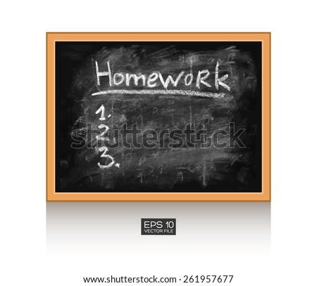 Homework Task Do List 1 2 Stock Vector Royalty Free 261957677