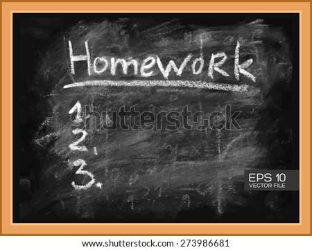 Homework Task Do List 1 2 Stock Vector Royalty Free 273986681