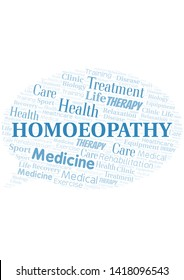 Homoeopathy word cloud. Wordcloud made with text only.