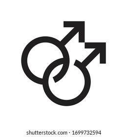 Homosexual vector symbol, gay couple