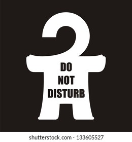 Homunculus. # 22 (do not disturb)  An abstract illustration of urban style for printing on various media.