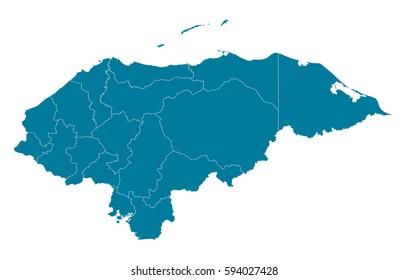 Honduras Mapa Stock Illustrations Images Vectors Shutterstock