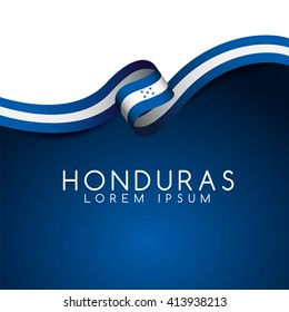 Honduras Flag Ribbon : Vector Illustration