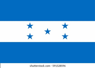 Honduras flag vector icon.