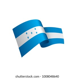 Honduras flag, vector illustration