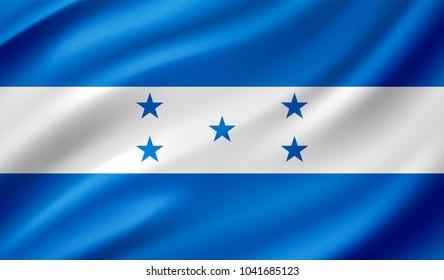 Honduras Flag in Vector Illustration