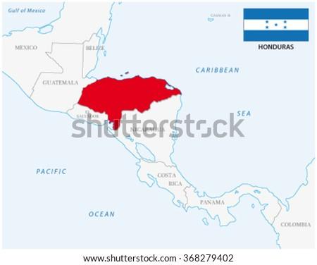 Honduras Mexico Map.Honduras Map Flag Stock Vector Royalty Free 368279402 Shutterstock