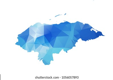 honduras map in geometric polygonal style. honduras map of isolated. Vector Illustration Eps10.