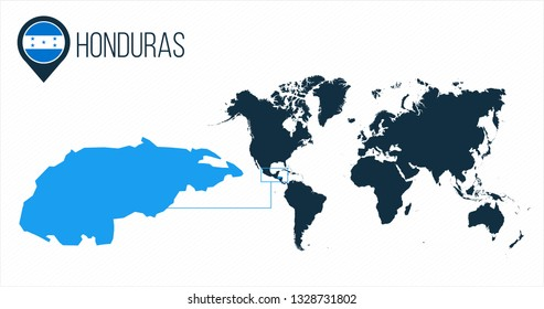 Honduras Pin On Map Images Stock Photos Vectors Shutterstock