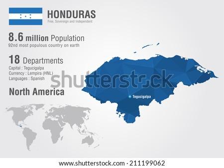 Honduras world map pixel diamond texture stock vector royalty free honduras world map with a pixel diamond texture world geography gumiabroncs Gallery