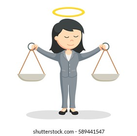 honest female lawyer illustration design