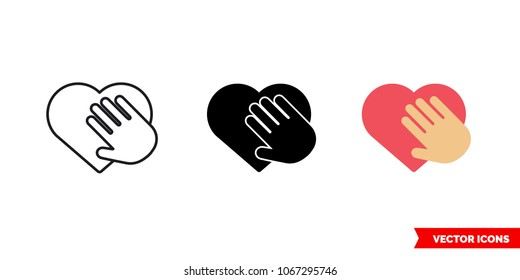 Honesty icon of 3 types: color, black and white, outline. Isolated vector sign symbol.