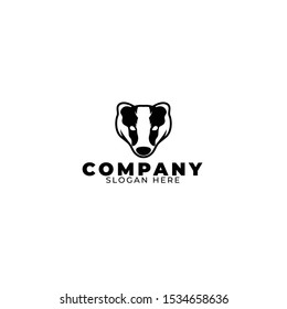 Honey Badger Logo Illustration vector
