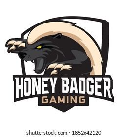 Honey Badger Mascot Gaming Logo Design