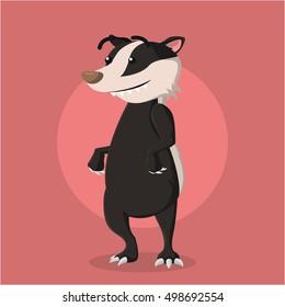honey badger vector illustration design