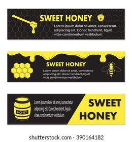 Honey banner for exhibitions, posters and other