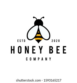 Honey Bee concepts logo vector graphic abstract template