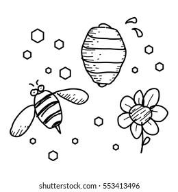 honey bee doodle