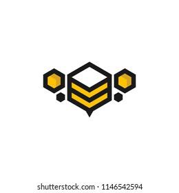 honey bee farm logo