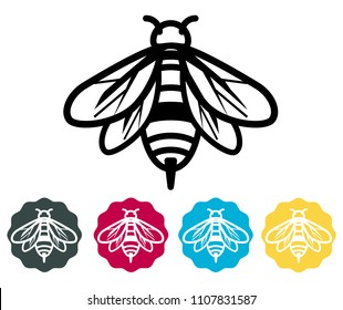 Honey Bee Icon as EPS 10 File