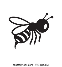 Honey and bee icon on a white background.