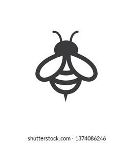 Honey and Bee icon. Honey vector. Bee illustration. - Vector