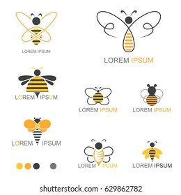 Honey Bee Insect Logo - Vector