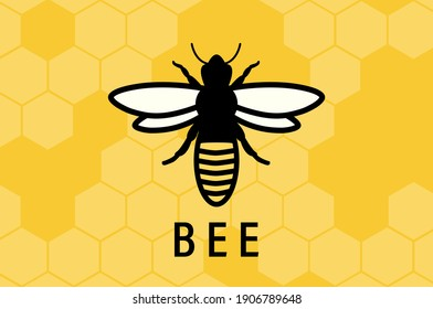 Honey bee. Insect. Honey making concept. Vector illustration
