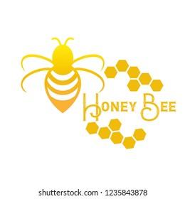 Honey Bee logo vector eps10
