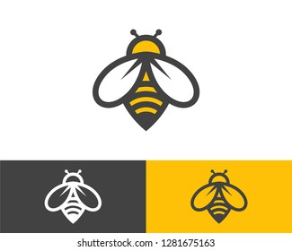 Honey bee vector, bee logo